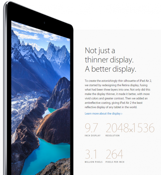 iPad Air 2 Ekran