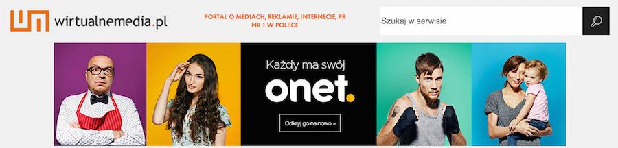 Onet - reklama w WirtualneMedia