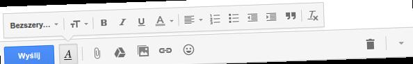 Gmail: opcje formatowania