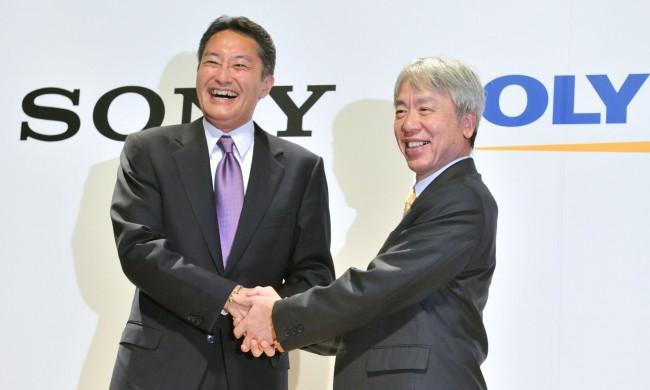 JAPAN-COMPANY-ELECTRONICS-SONY-OLYMPUS