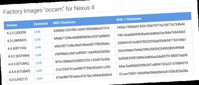 nexus 4 android 5 lollipop