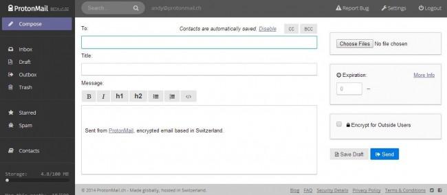 protonmail szyfrowana szkrzynka email