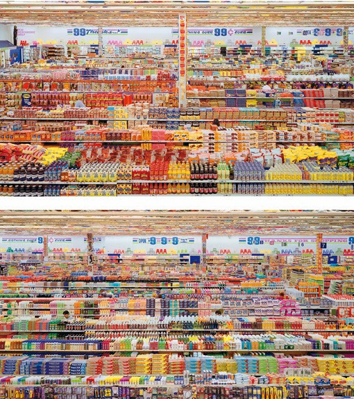 "5. Andreas Gursky ""99 Cent II Diptychon"" (2001), 3.346.456 dol."
