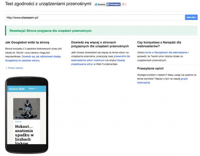 Test zgodności z urządzeniami mobilnymi