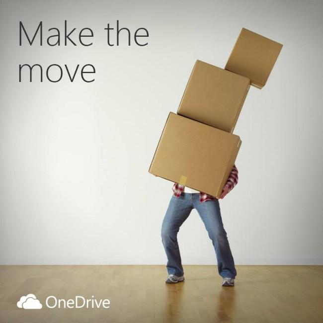 Dzisiaj grafika promująca OneDrive nabiera innego znaczenia.