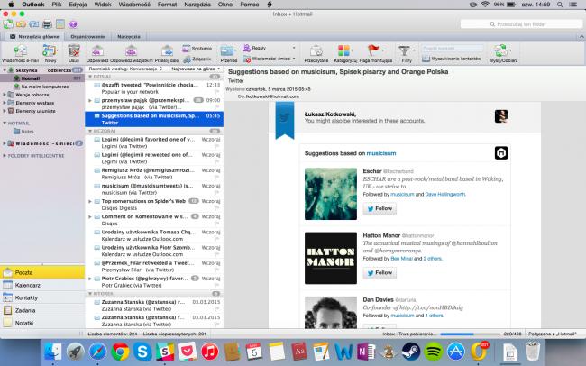 Outlook - aktualna wersja