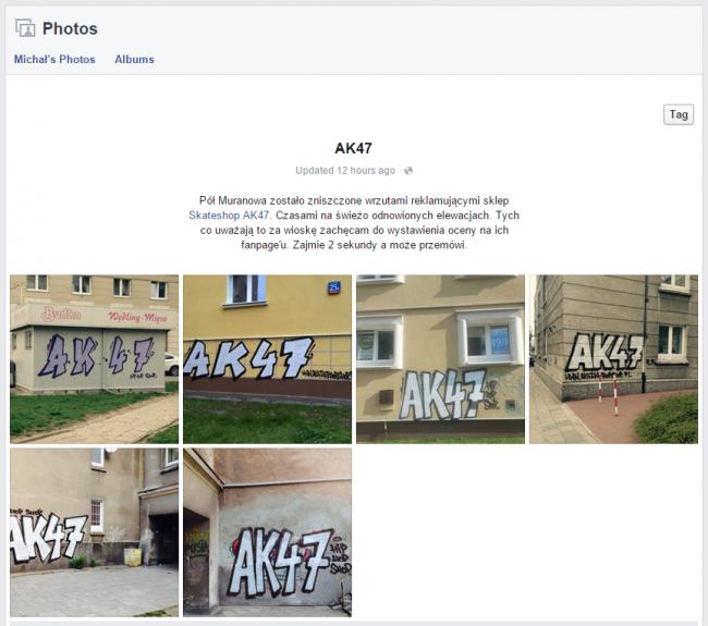 Album, który na Facebooku opublikował  Michał Kostrzewa.