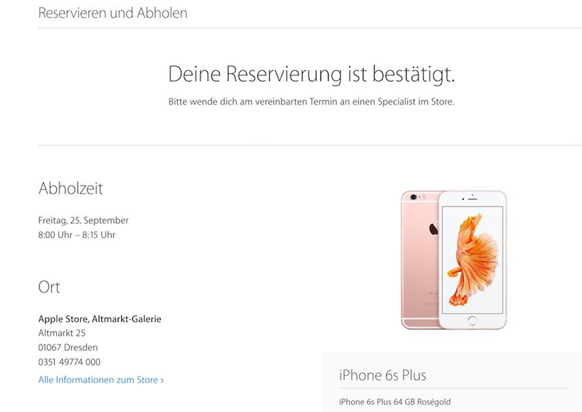 iPhone 6S Plus rezerwacja