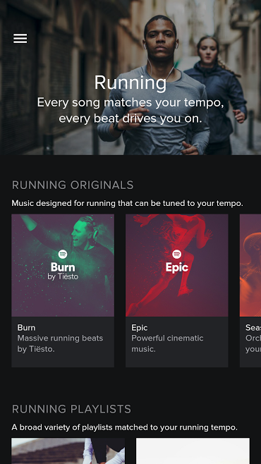 Spotify Running dla Androida