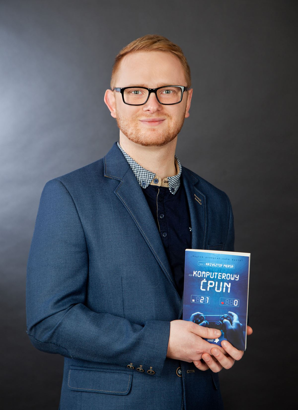 """Krzysztof Piersa, autor """"Komputerowego Ćpuna"""""""