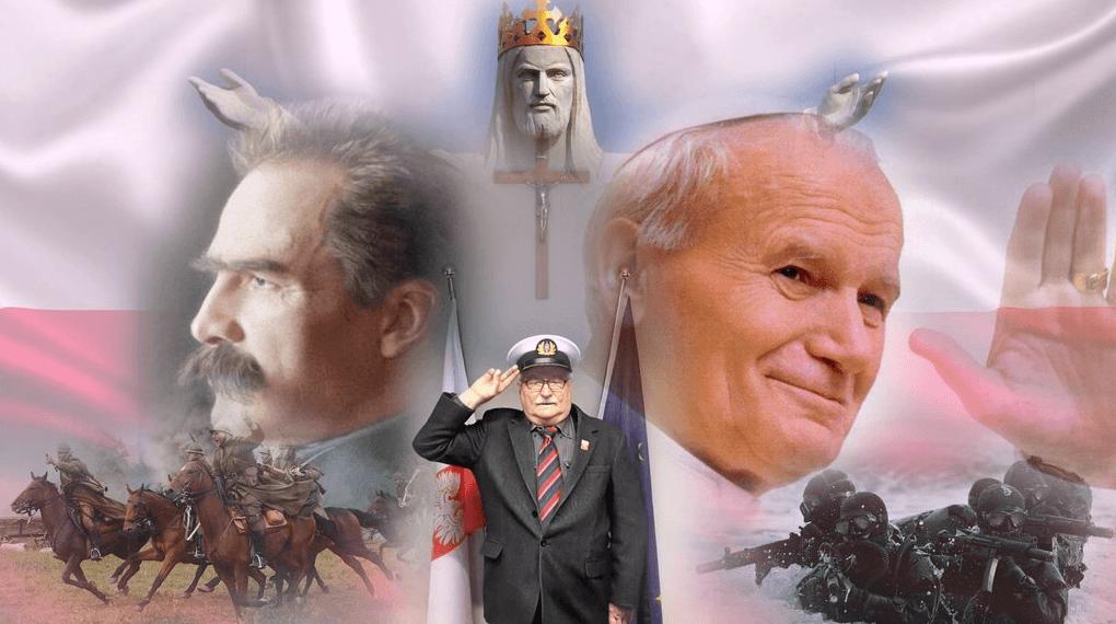 Lech Wałęsa: grafika zamieszczona na Wykopie
