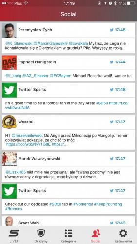 Nowa aplikacja sport.pl wygląda dobrze