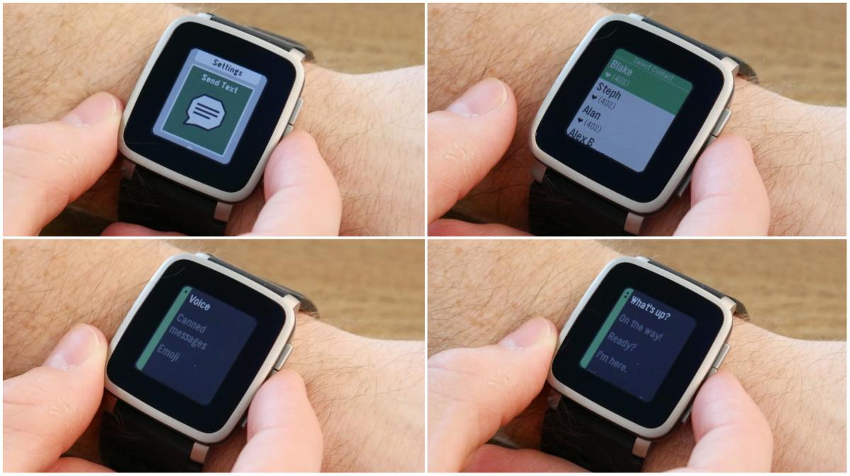 Pebble na Androidzie potrafi też wysłać SMS.