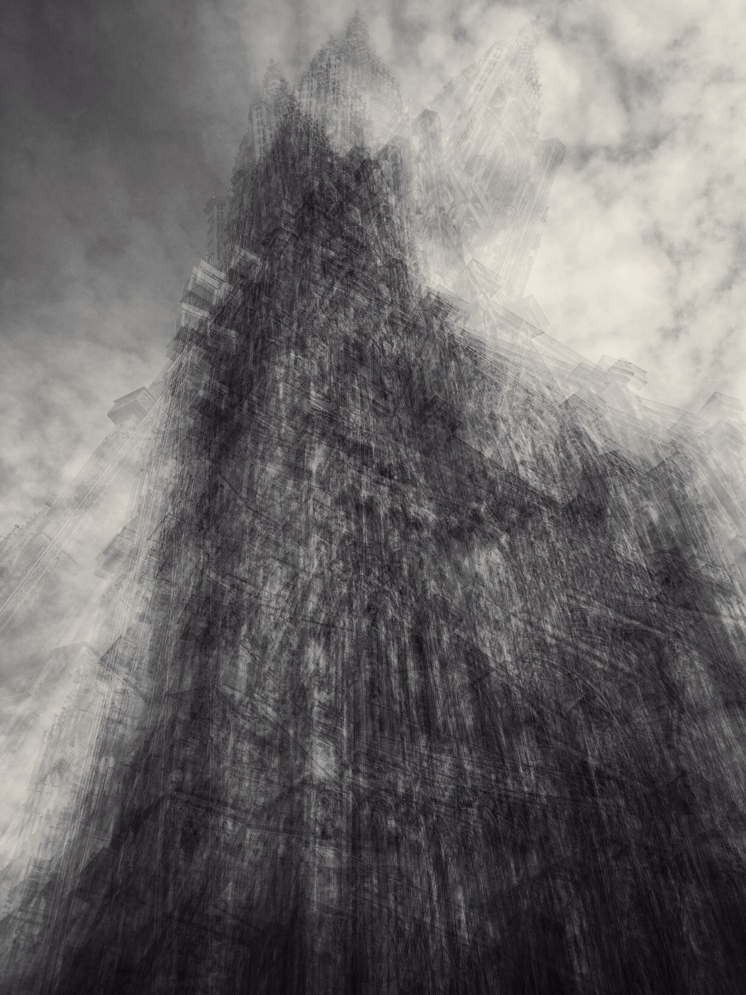 """The image comes form the ongoing iPhone series of """"Modern Cathedrals"""", it was shot in September in Strasbourg and represents Cathedrale Notre Dame de Strasbourg."""